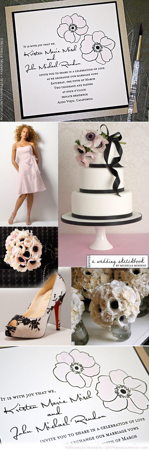 Las pinceladas de color negro siempre causan furor en la decoración de boda