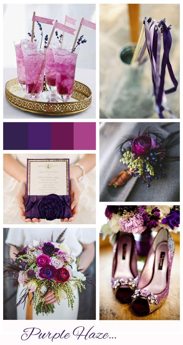 El púrpura creará un ambiente muy sofisticado en tu boda