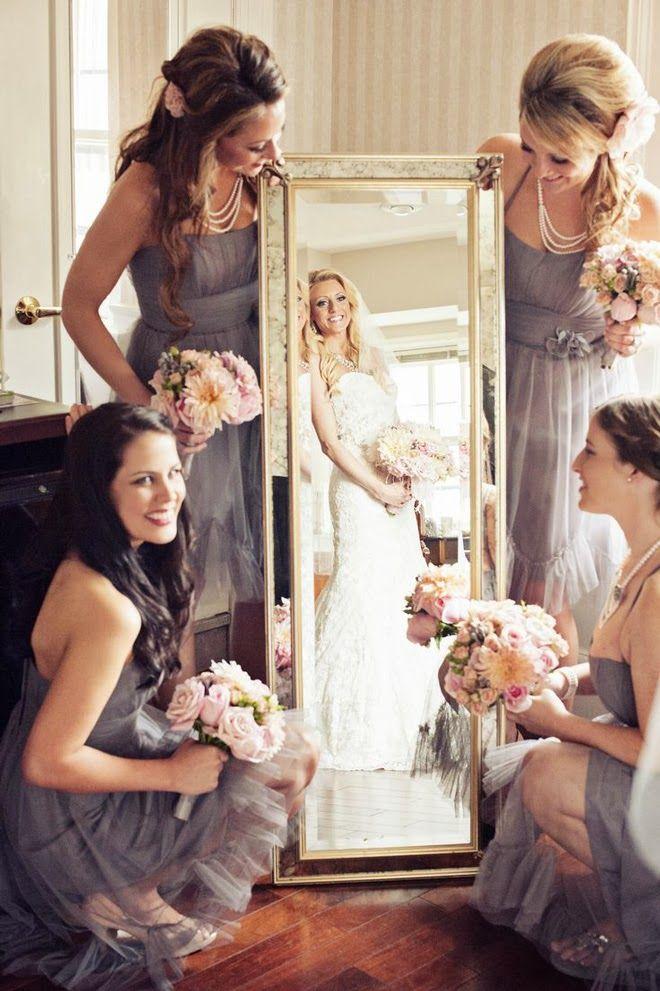 El primer reflejo en el espejo como novia