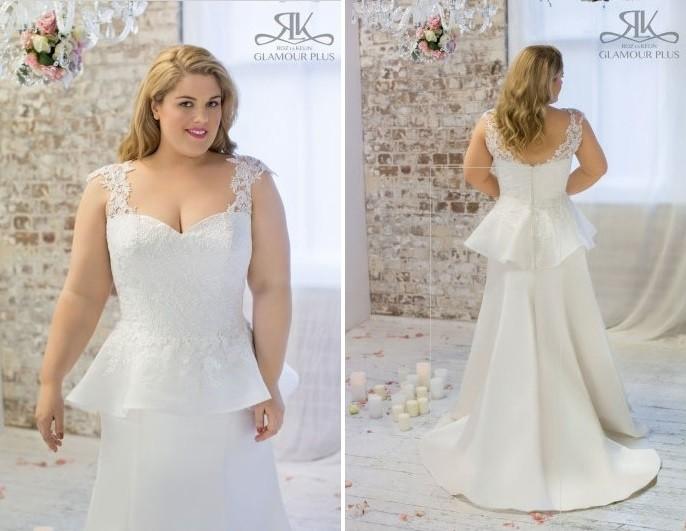 Corte peplum para un vestido de novia muy elegante