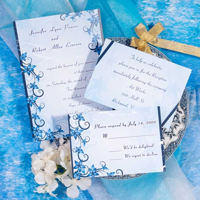 Invitación con toques vintage para boda en la playa