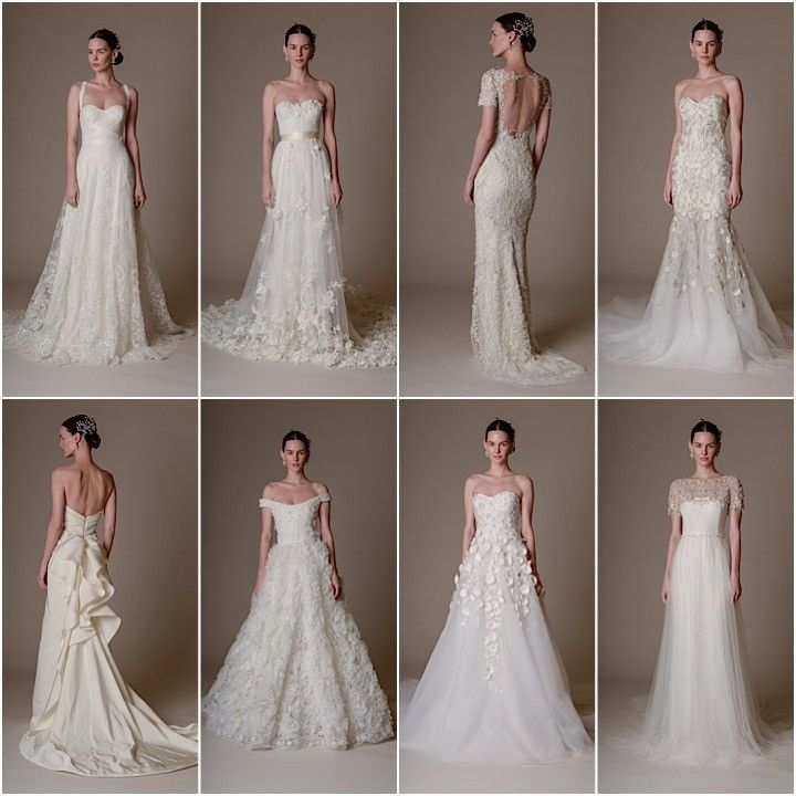 Un simple vistazo a los  modelos que completan la colección de novia Marchesa 2016
