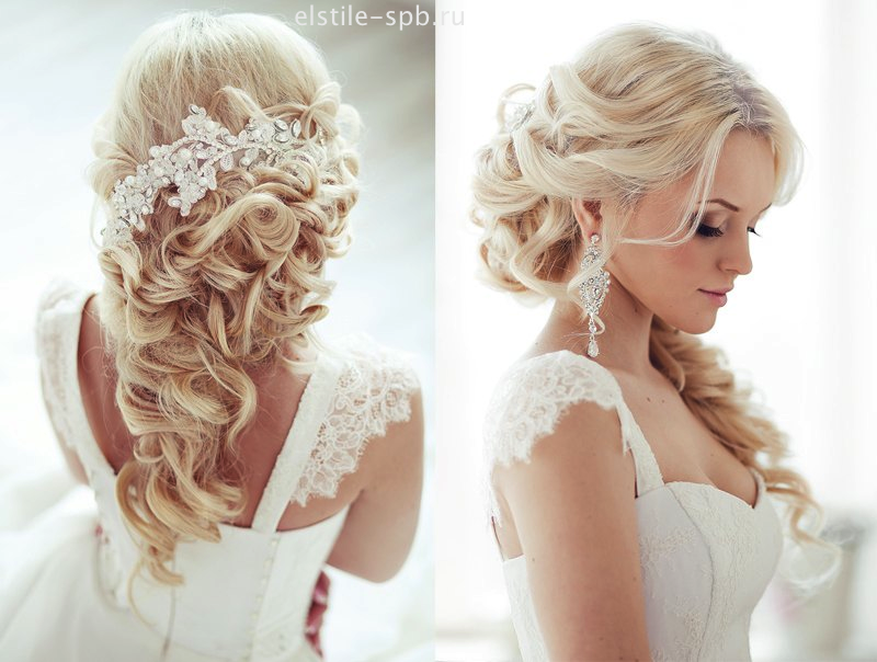 Para las novias más juveniles, un peinado se estilo semi-recogido