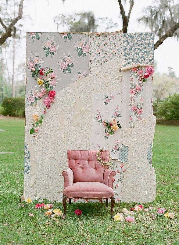 El toque vintage siempre estará presente en nuestra boda y también, en el photocall