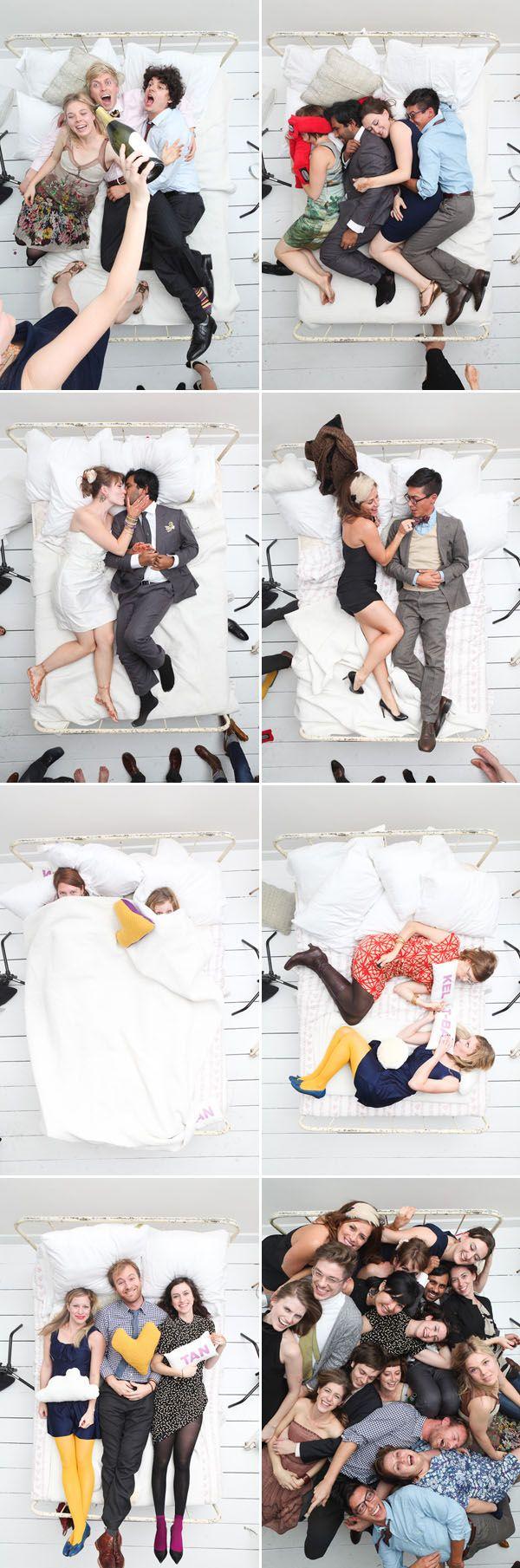 Aunque la mayor parte de las fotos son hechas de pie...¡hoy nos tumbamos en cama para un photocall!