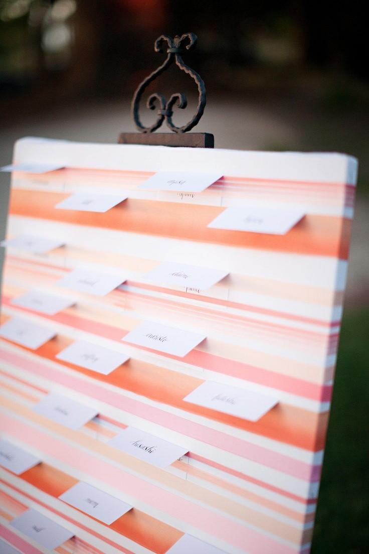 Un tablón secreto que al quitar el papel con tu nombre te dirá dónde estarás sentado