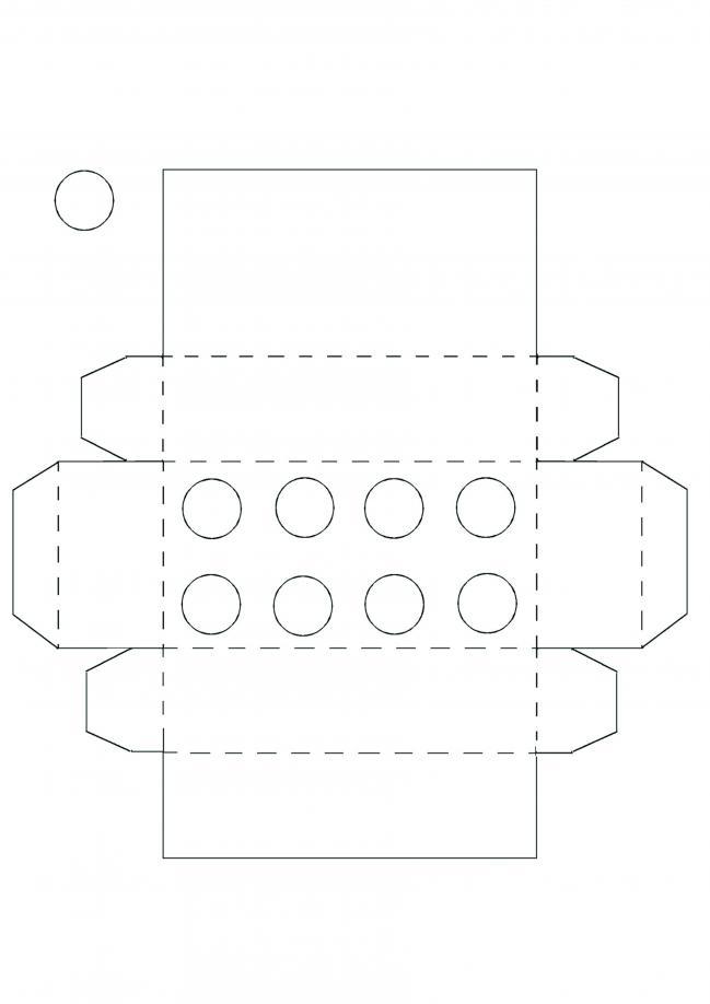Plantilla de caja Lego