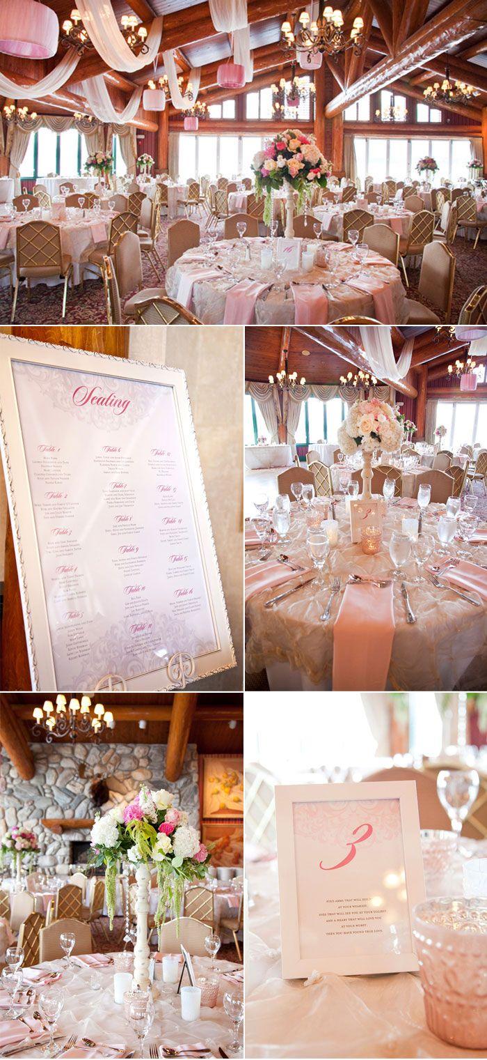 Un interior de boda bien decorado, con gusto y con color rosa