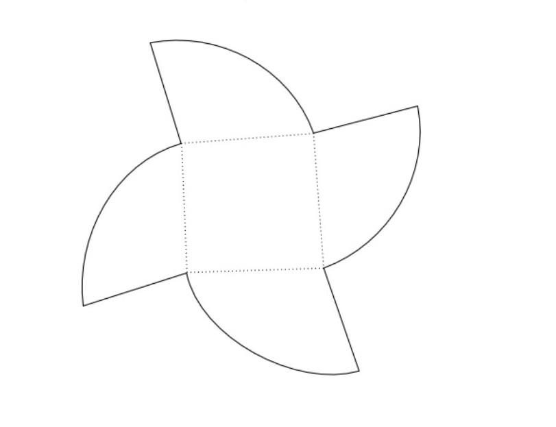 Patrón para caja circular