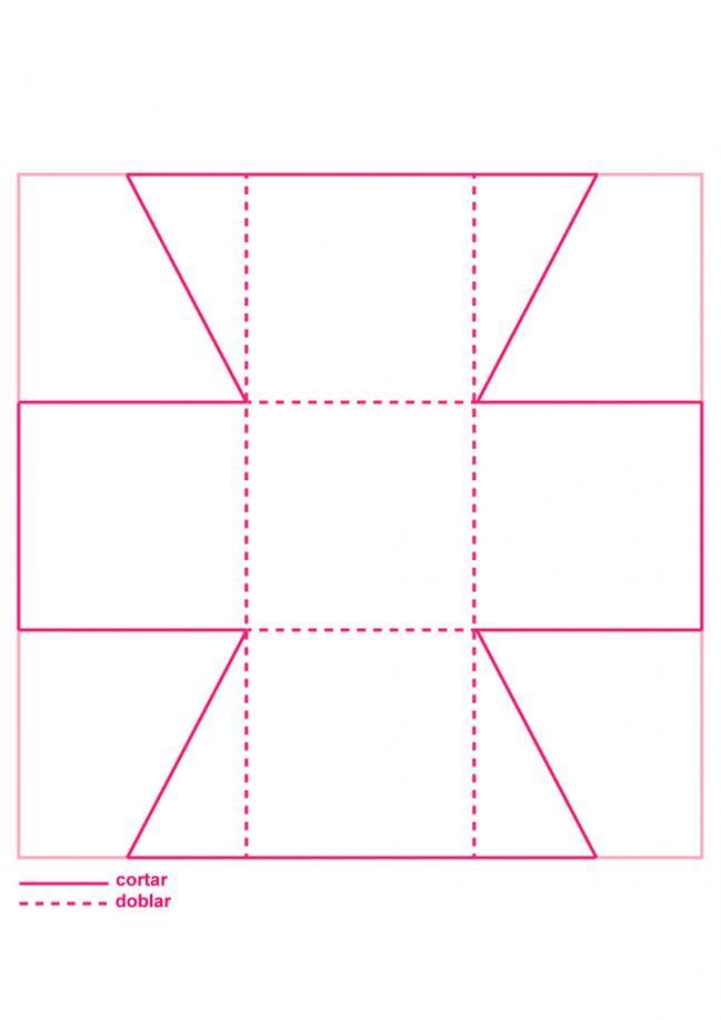 Un patrón para una caja sencilla en la que podrás guardar bombones