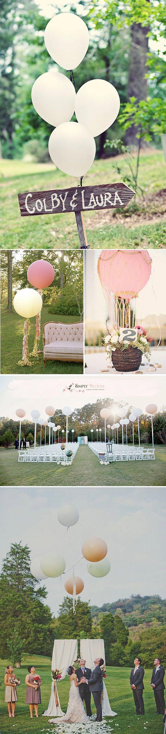 Los globos también nos ayudan a decorar nuestra boda