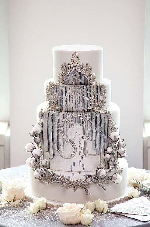 Decoración de tartas de boda de lo más especiales y originales