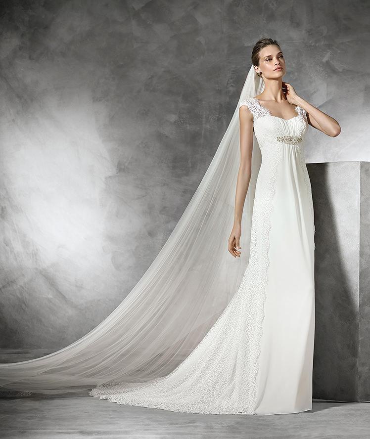 El corte imperio es uno de los estilos que más favorecen a las novias embarazadas