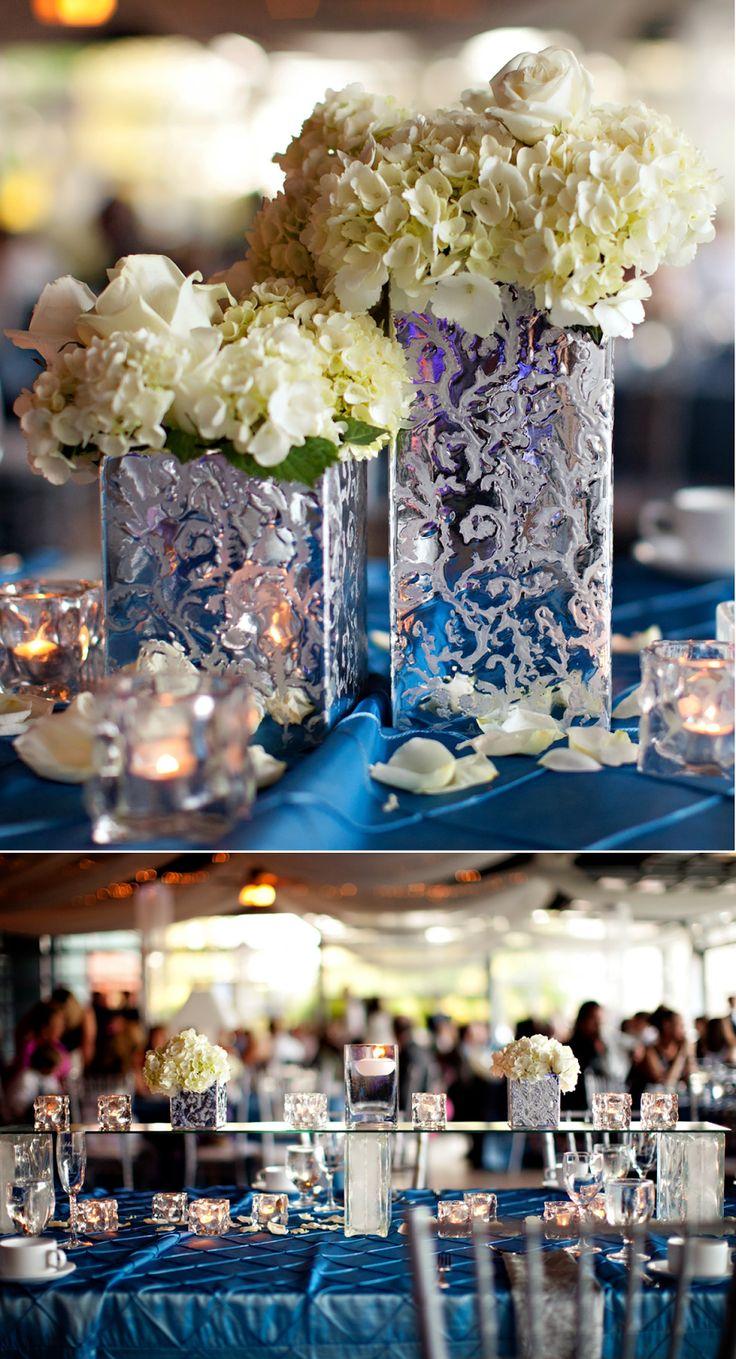 Déjate llevar por los centros de mesa en color plata y verás qué resultado más glamuroso