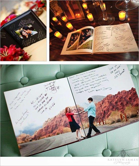 Un libro de fotos siempre es una buena opción para tu libro de firmas
