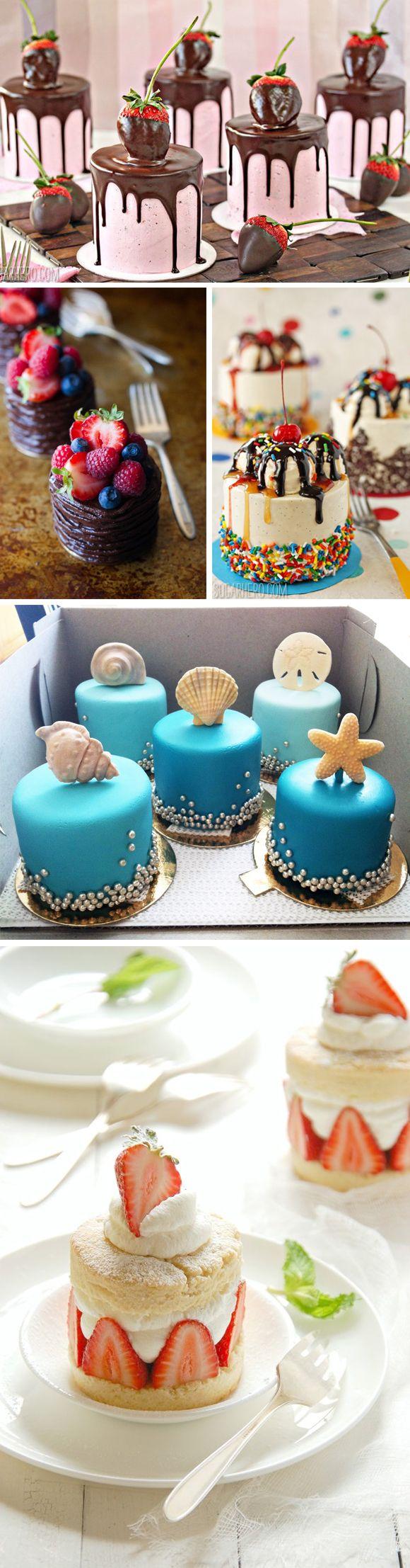 Los pequeños pasteles para boda pueden ser de lo más variados. ¿Cuáles te gustan?