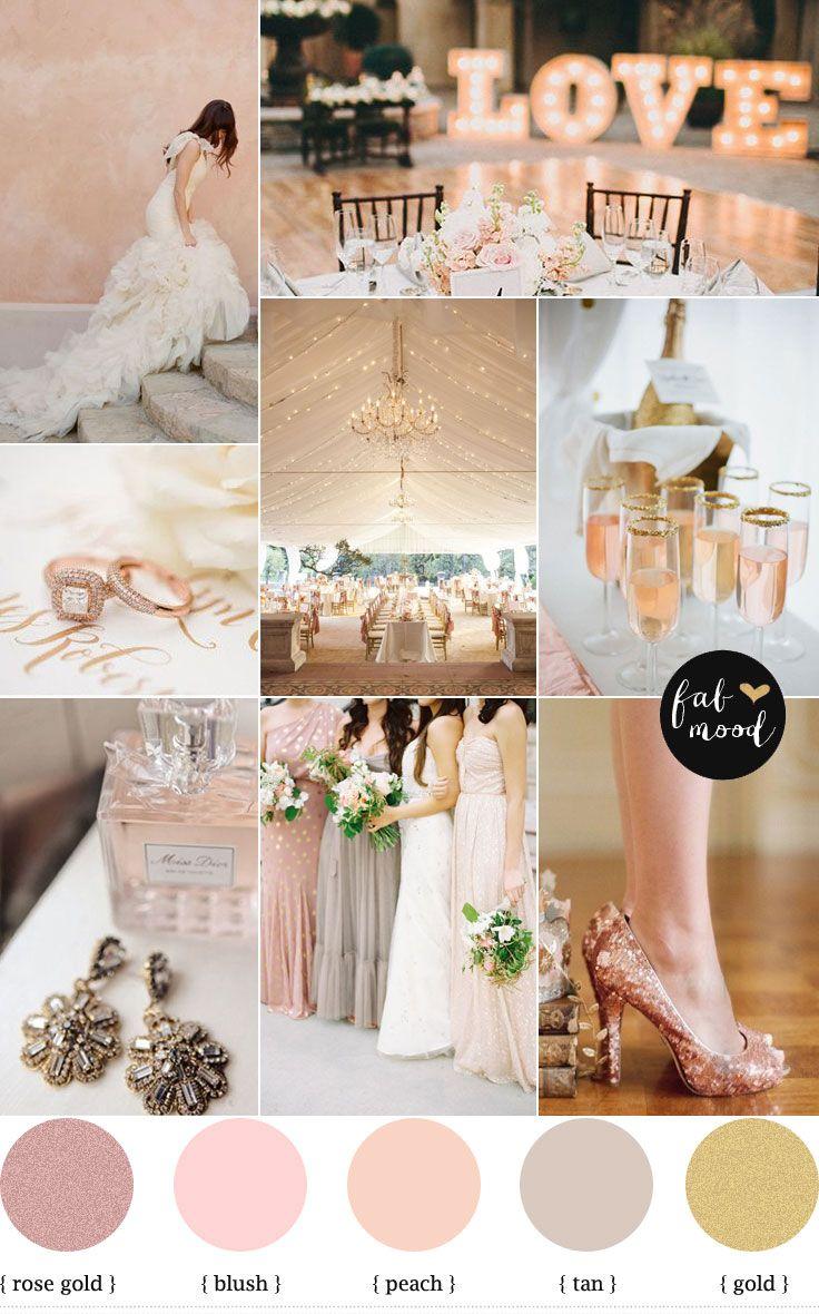 La mejor combinación de colores para una boda romántica y llena de glamour