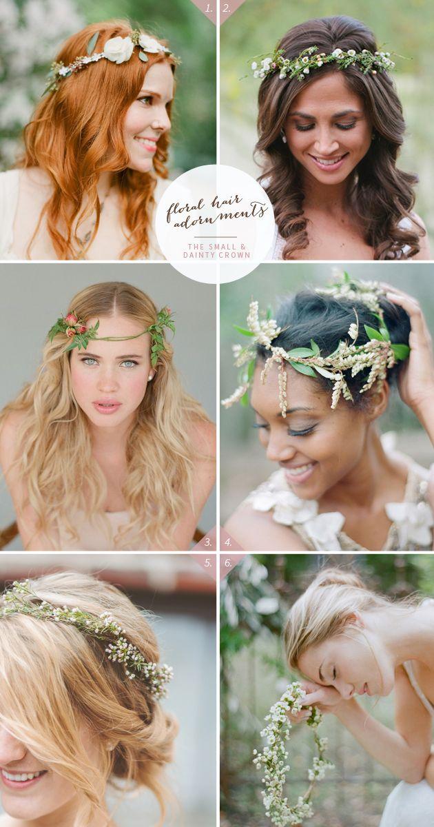 Coronas de flores para las novias más naturales