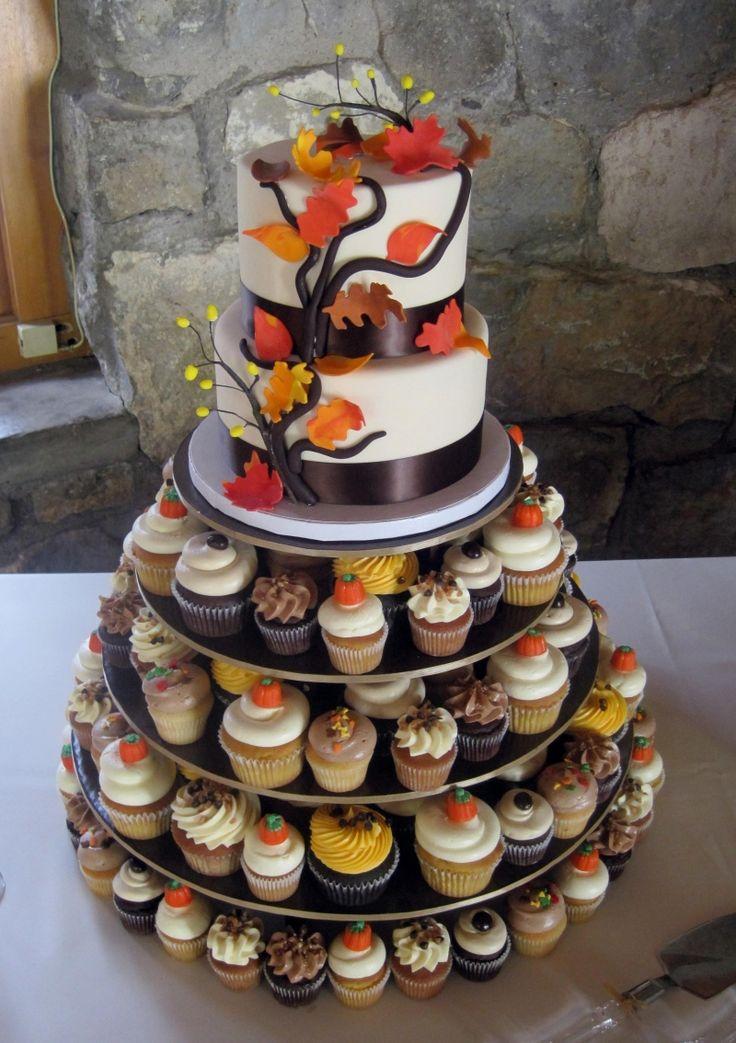 Cupcakes con temática otoñal para endulzar cualquier boda