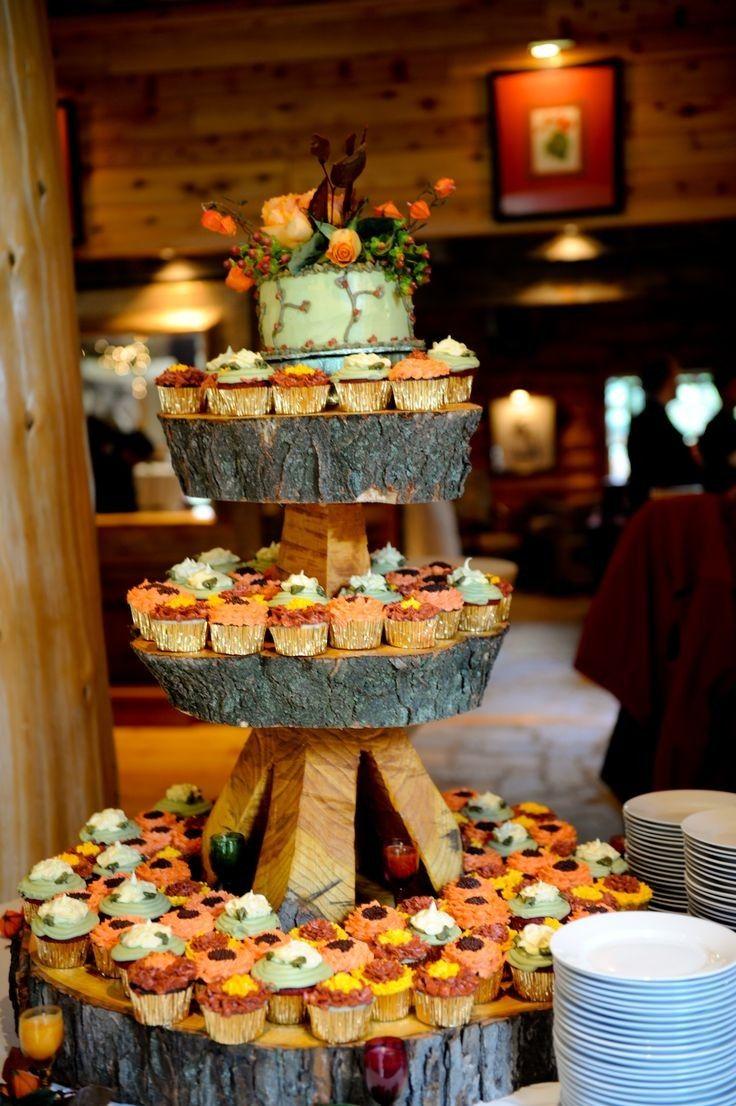Cupcakes con un aire rústico para bodas otoñales