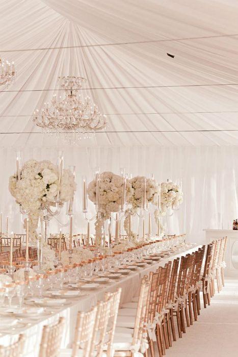 Salón de boda en tonos rosados