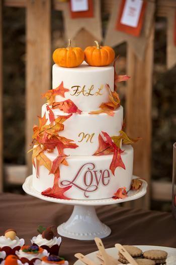 Las calabazas siempre forman parte del otoño y también, de nuestro pastel para boda