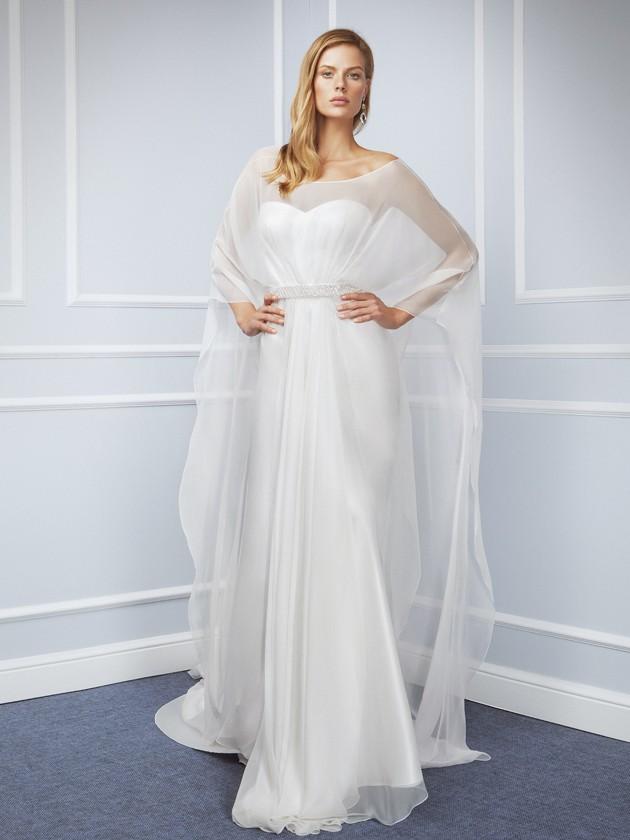 Capa de tul para vestido de novia