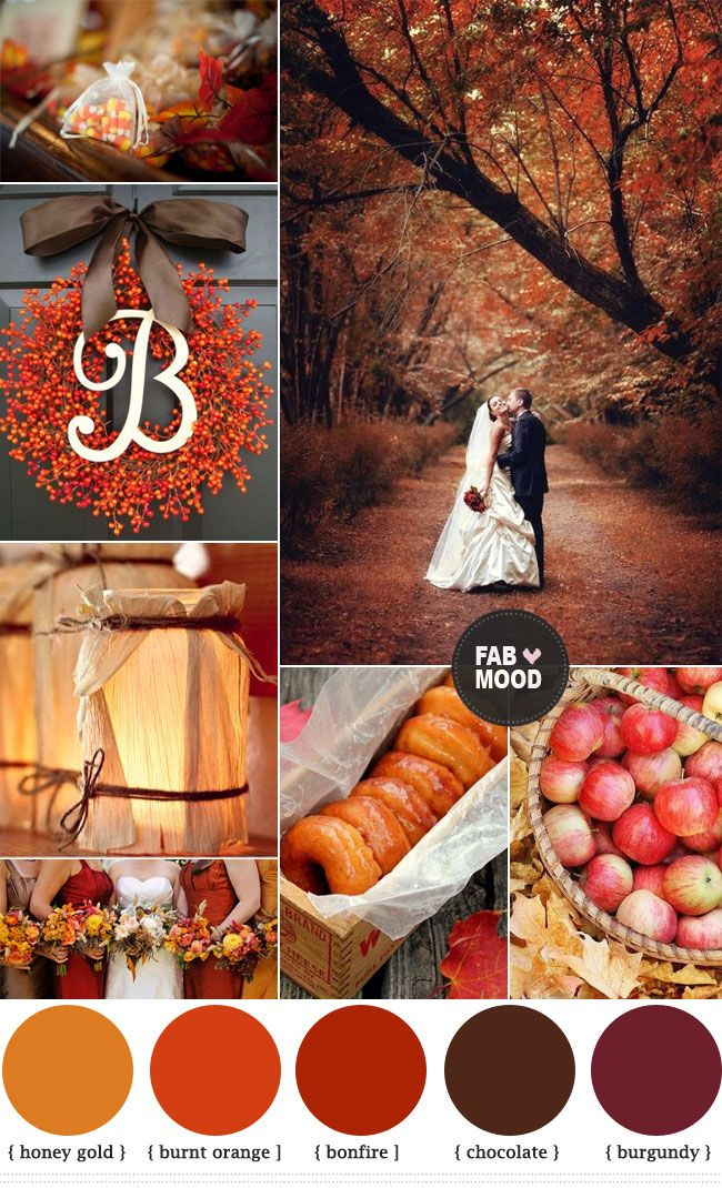 Los colores perfectos para las bodas de otoño