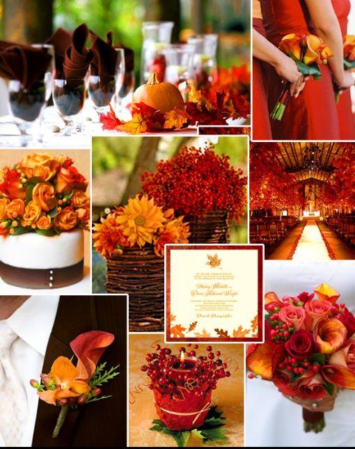 Combinación de colores para tu boda otoñal