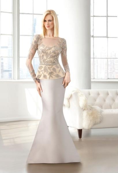 Un bordado original para completar este vestido largo de fiesta