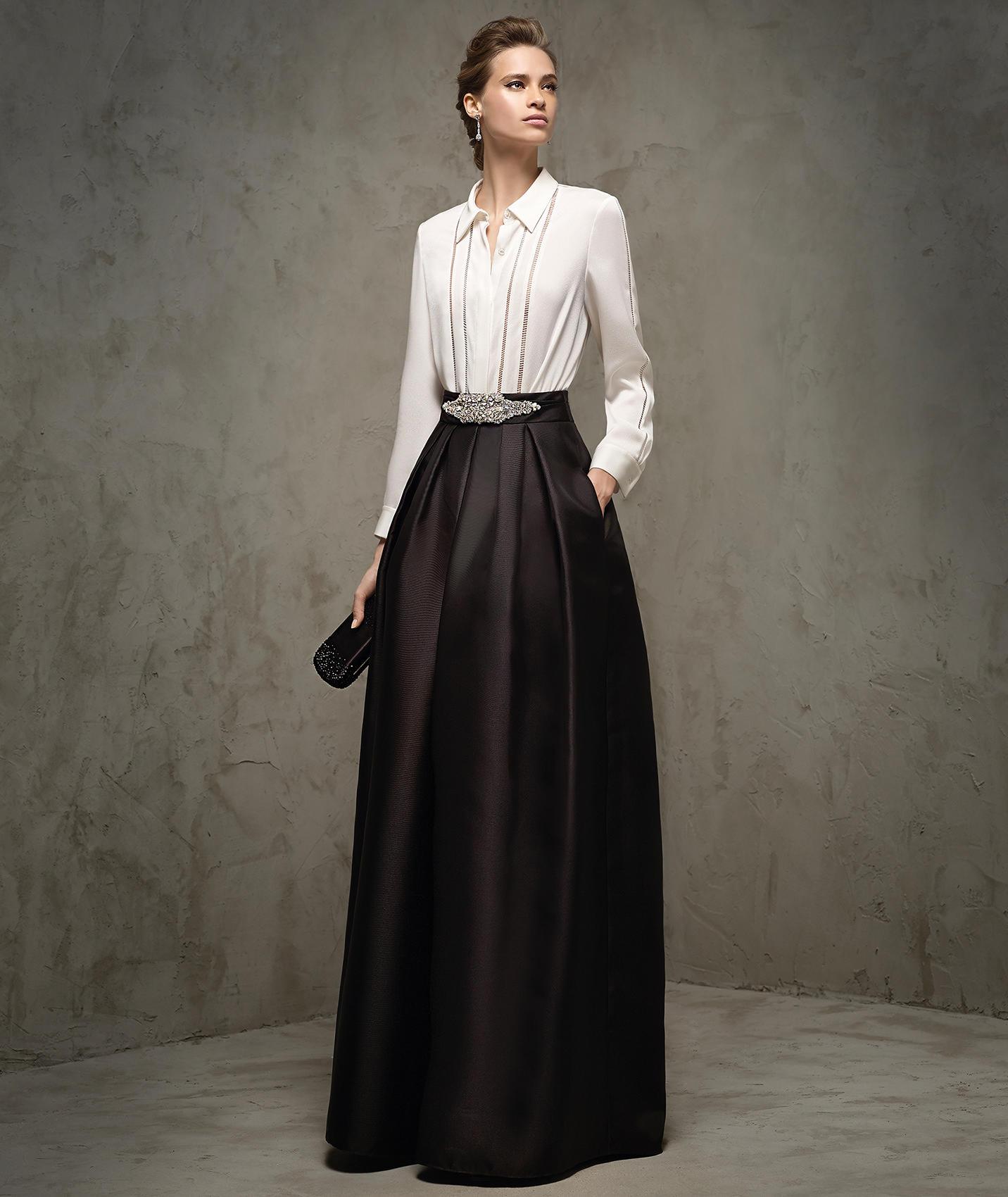 324086c0e Vestidos para boda - Trajes en blanco y negro