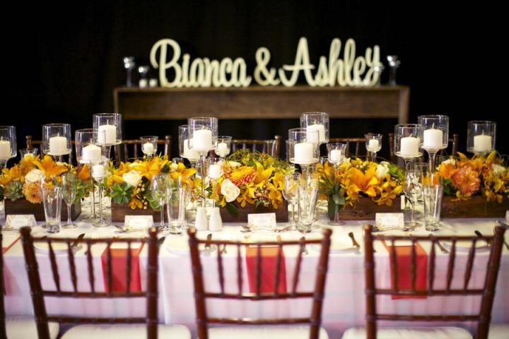 El color amarillo dará más luz a tus centros de mesa para bodas