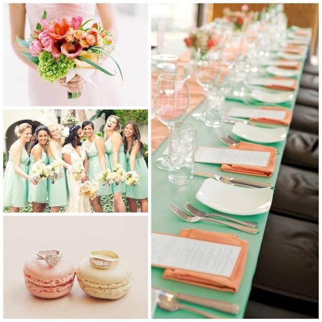 Decoración de colores suaves para boda sencilla