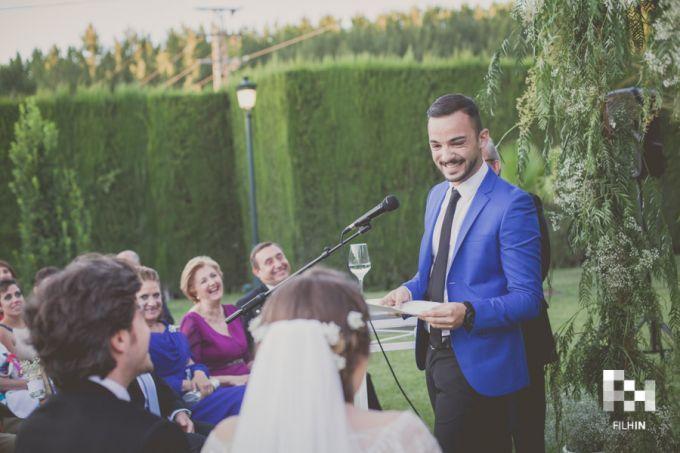 Lectura de los novios en la boda