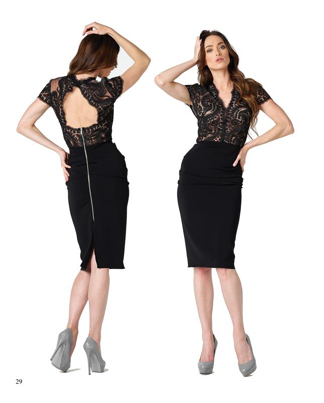 Un vestido de tubo para marcar las curvas
