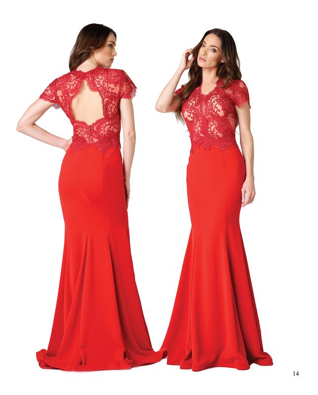 El color rojo siempre será perfecto para acompañar los vestidos más modernos