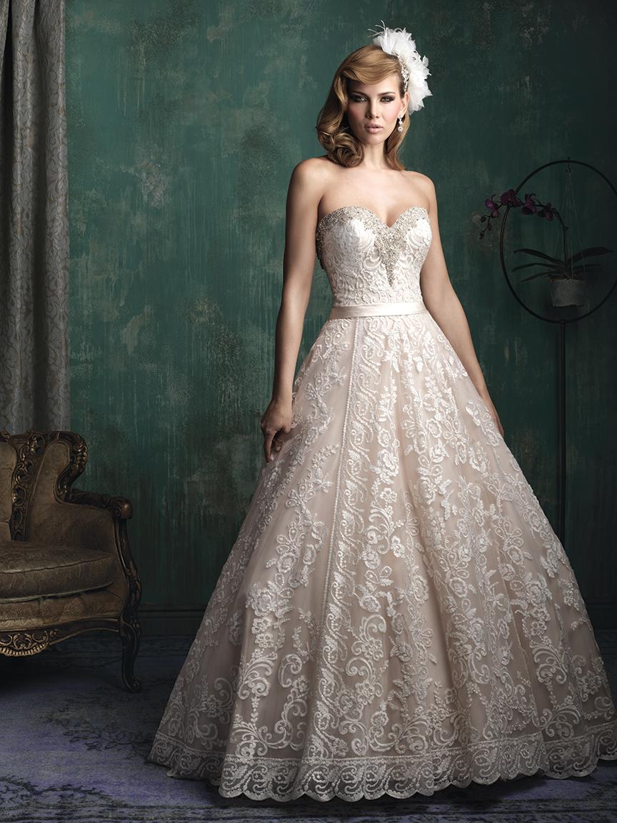 ¿Te verías con un vestido así?. Allure Bridals tiene la respuesta