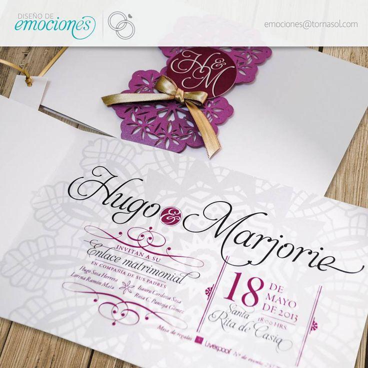 Con unas grandes letras y algunos detalles en color son más que suficientes para conseguir una perfecta invitación