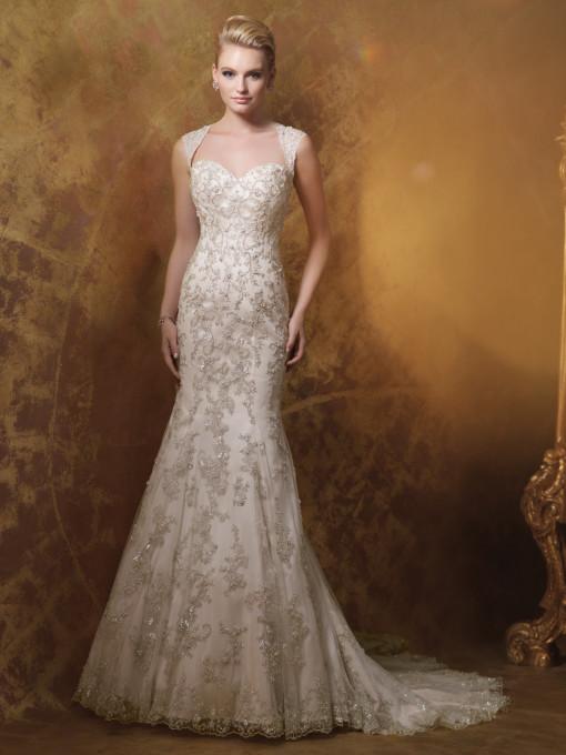 Bordados en color para los vestidos de novia
