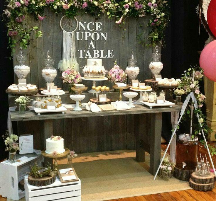 Matrimonio Rustico Como : Mesas de dulces para bodas ejemplos con estilo rústico
