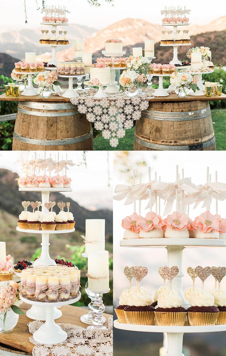Los barriles como mesa de boda