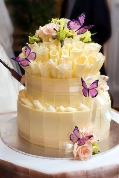 Chocolate blanco para adornar tu tarta de boda
