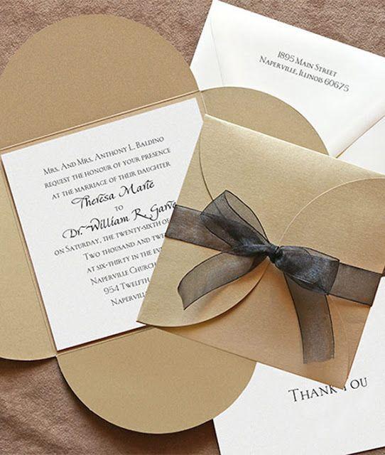 Una tarjeta sencilla de boda