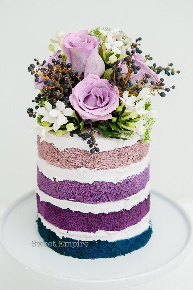 Naked Cake en colores morado