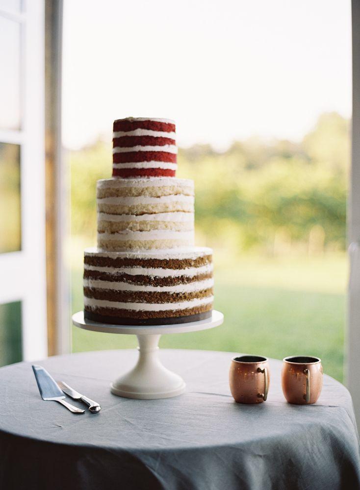 Tres pisos para la tarta, tres colores