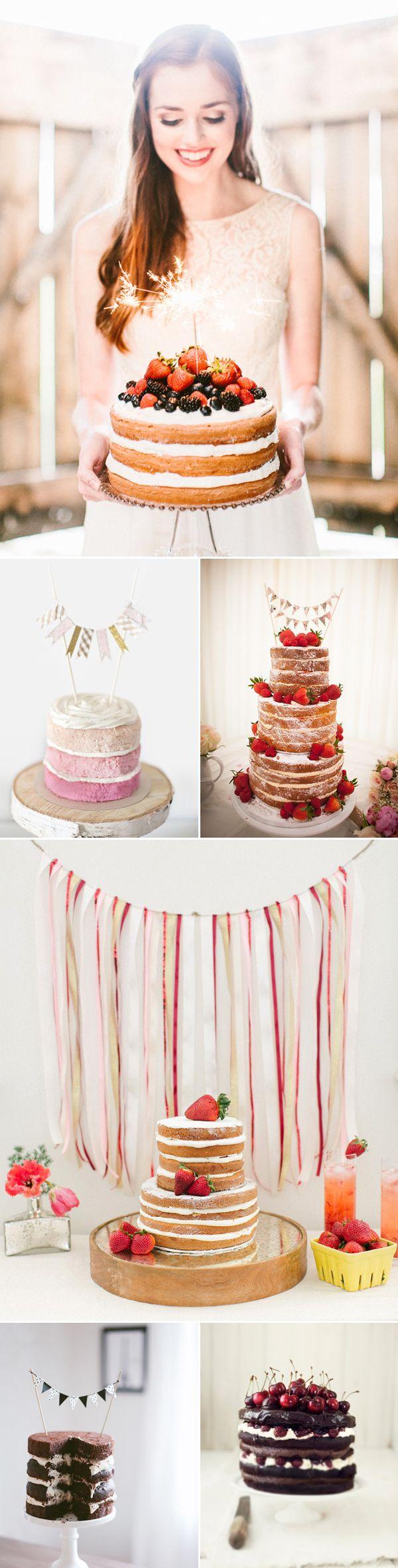 Colección de tartas naked cakes para tu gran día
