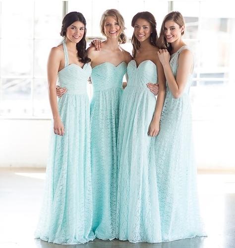 Vestidos largos en tono azul pastel de Watters
