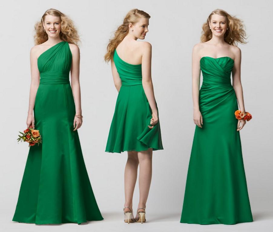 Vestidos en color verde para las damas de honor
