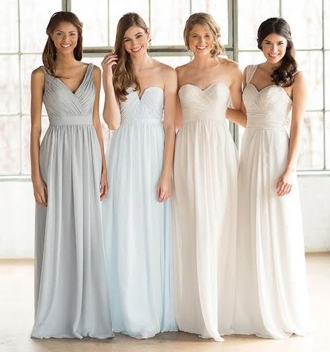 Vestidos color pastel para las damas