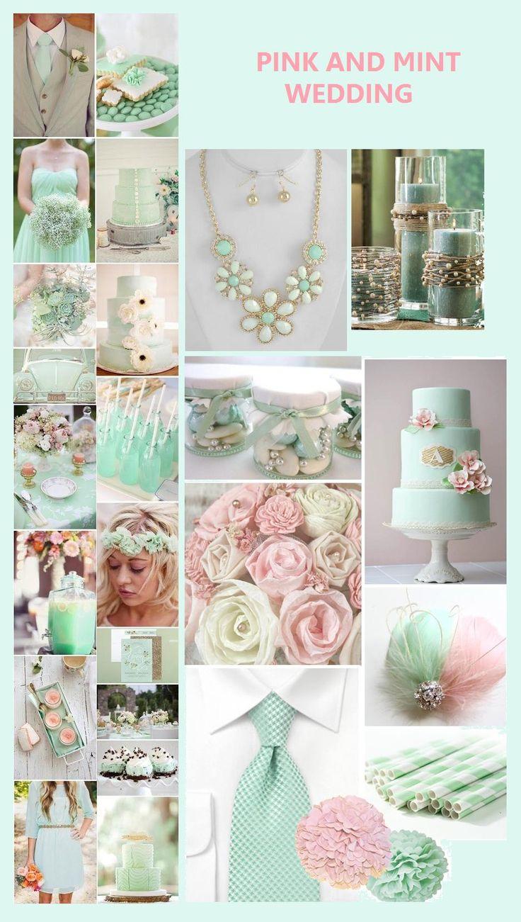 Combinación del color menta y el rosa para una boda muy fresca